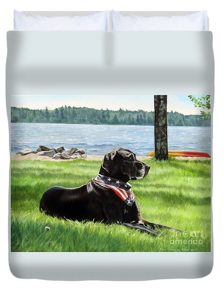Harley At The Beach Duvet Cover