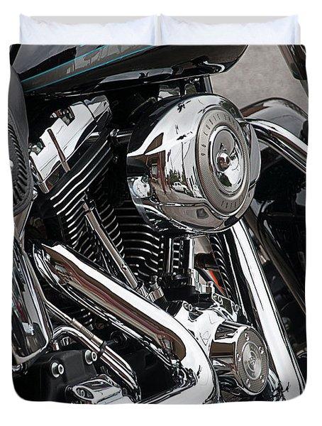 Harley Chrome Duvet Cover