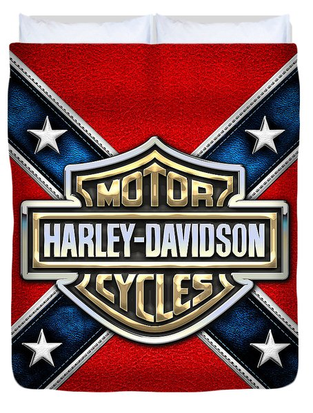 Harley-davidson - 3d Badge Duvet Cover
