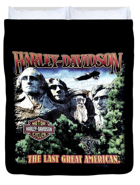 Harley Davidson The Last Great American Duvet Cover
