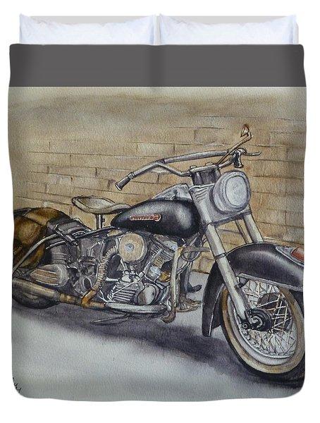 Harley Davidson Vintage 1950's Duvet Cover