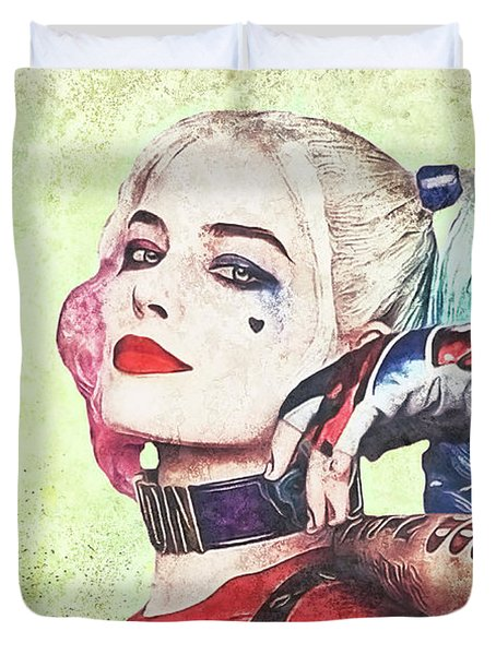 Harley Is A Crazy Woman Duvet Cover