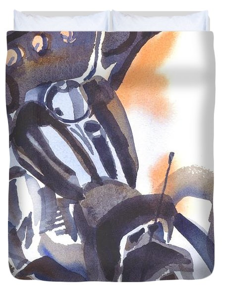 Motorcycle Iv Duvet Cover