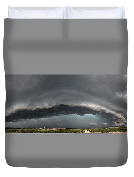 Harlowton, Montana, Supercell Duvet Cover
