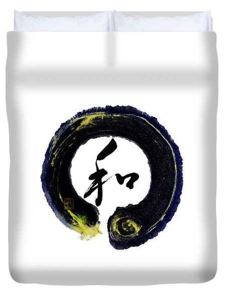 Harmony - Peace With Enso Duvet Cover