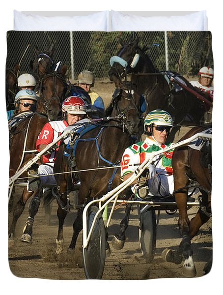 Harness Racing 9 Duvet Cover