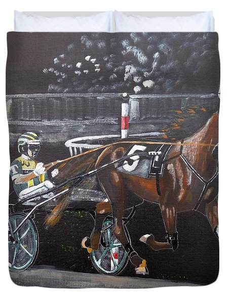 Harness Racing Duvet Cover