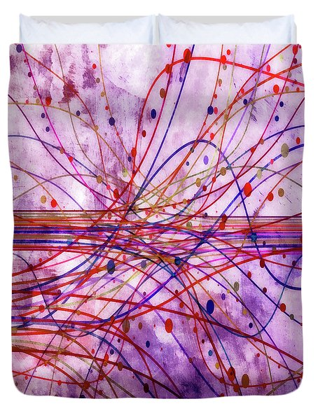 Duvet Cover featuring the digital art Harnessing Energy 2 by Angelina Vick