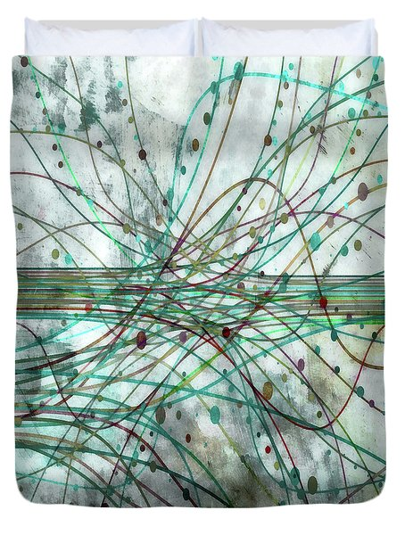 Duvet Cover featuring the digital art Harnessing Energy 3 by Angelina Vick