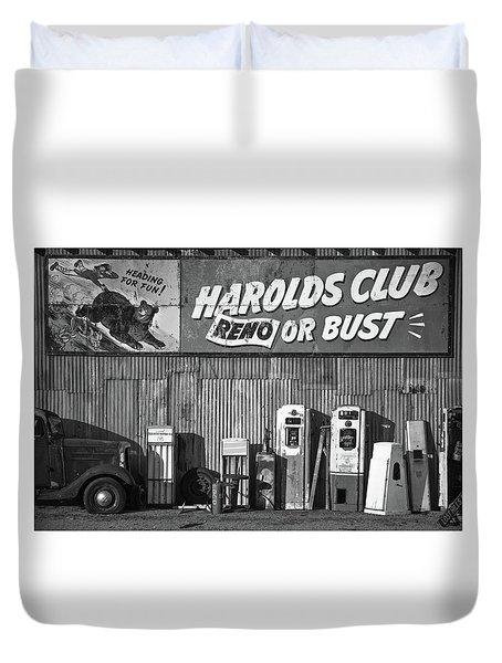 Harold's Club Duvet Cover by Marius Sipa