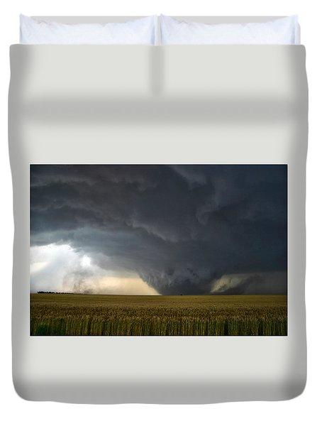 Duvet Cover featuring the photograph Harper Kansas Tornado 2  by James Menzies