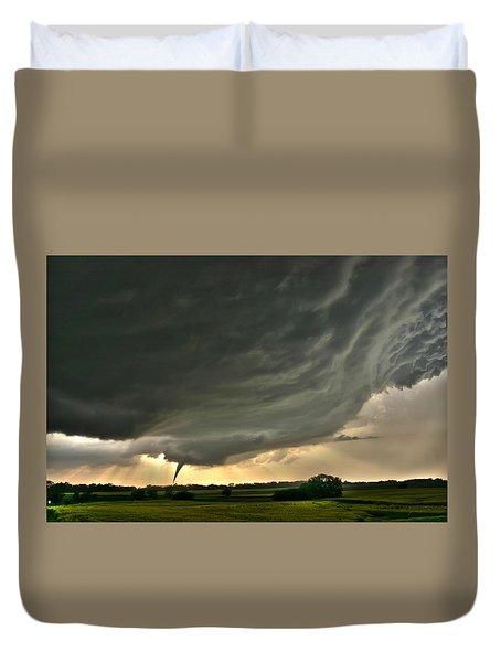 Duvet Cover featuring the photograph Harper Kansas Tornado by James Menzies