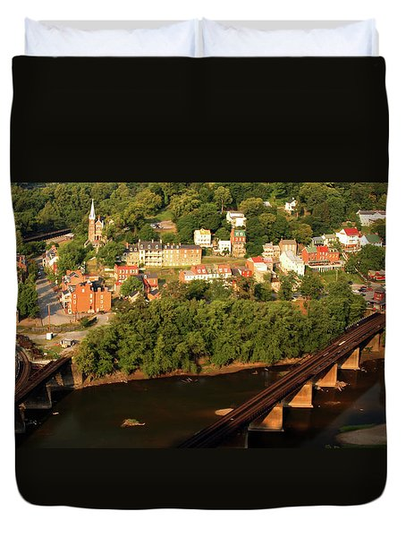 Duvet Cover featuring the photograph Harpers Ferry by Mitch Cat
