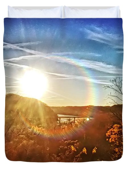 Harpers Ferry Sunset Duvet Cover