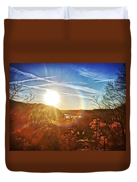 Harpers Ferry Sunset Duvet Cover