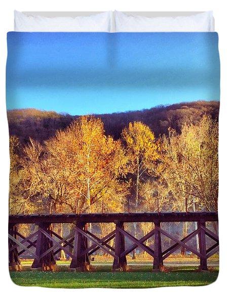 Harpers Ferry Train Tracks Duvet Cover