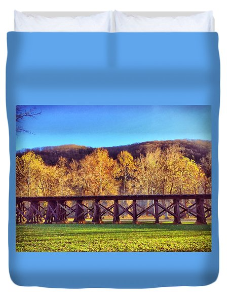 Harpers Ferry Train Tracks Duvet Cover
