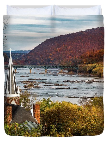 Harpers Ferry, West Virginia Duvet Cover