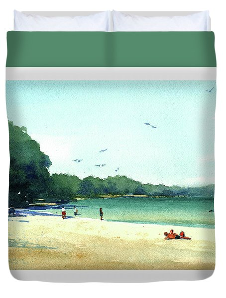 Harrington Beach, Wisconsin Duvet Cover