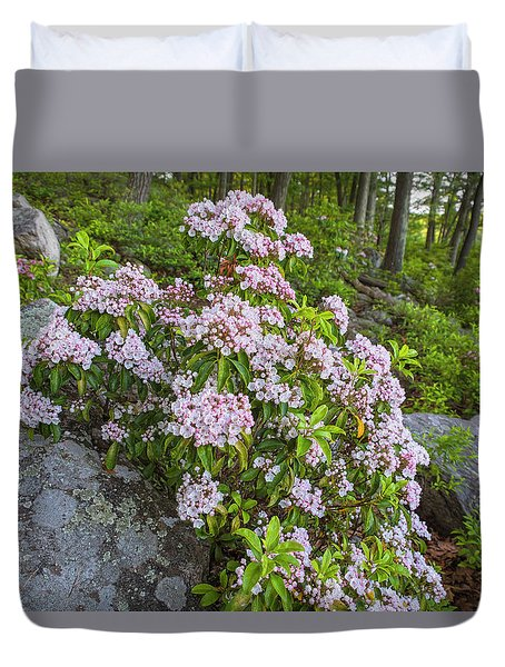 Harriman Pink And White Mountain Laurel Duvet Cover