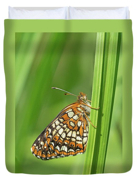 Harris' Checkerspot Duvet Cover