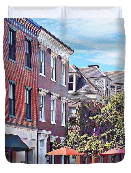 Harrisburg Pa - Coffee Shop Duvet Cover