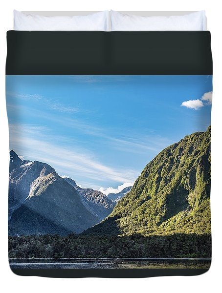 Duvet Cover featuring the photograph Harrison Cove Sunlight by Gary Eason
