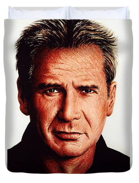 Harrison Ford Duvet Cover by Andrew Read