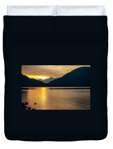 Harrison Lake, British Columbia Duvet Cover
