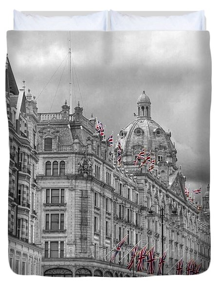 Harrods Of Knightsbridge Bw Hdr Duvet Cover