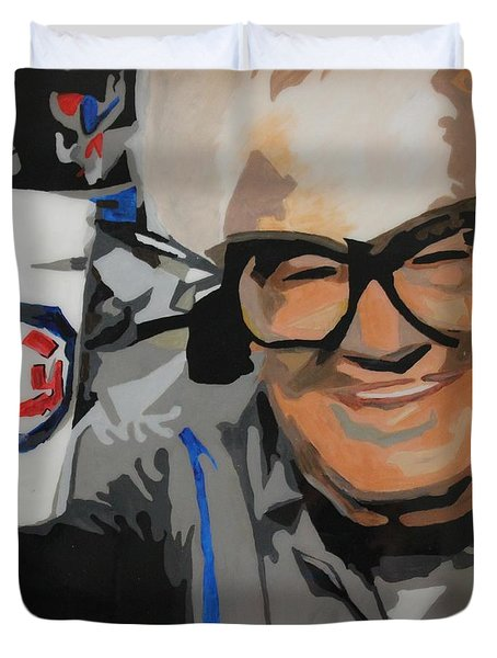 Harry Caray Duvet Cover