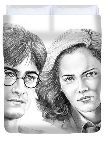Harry Potter And Hermione Duvet Cover by Murphy Elliott