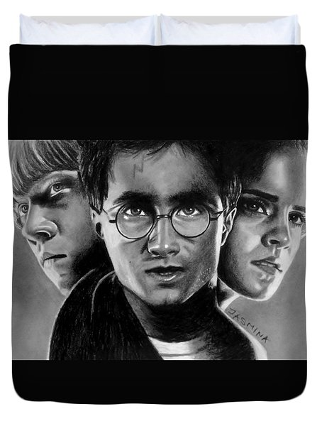 Harry Potter Fanart Duvet Cover by Jasmina Susak