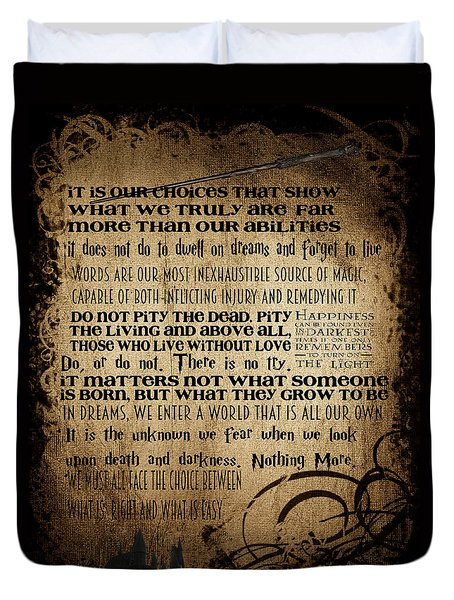 Harry Potter Quotes Duvet Cover