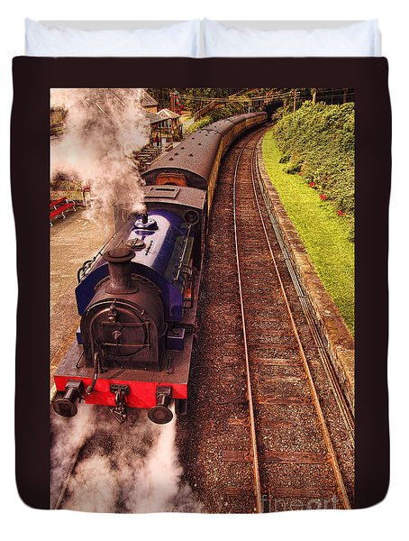 Harry Potters Haverthwaite Railway Station Duvet Cover