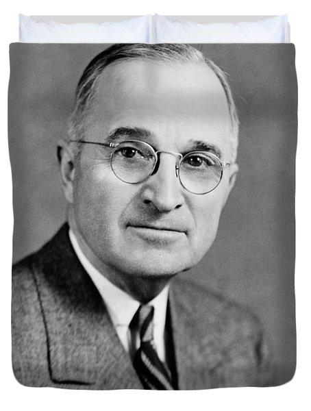Harry Truman - 33rd President Of The United States Duvet Cover