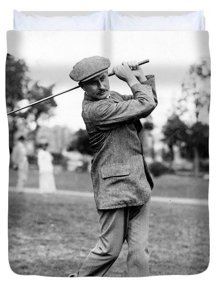Harry Vardon - Golfer Duvet Cover by International  Images