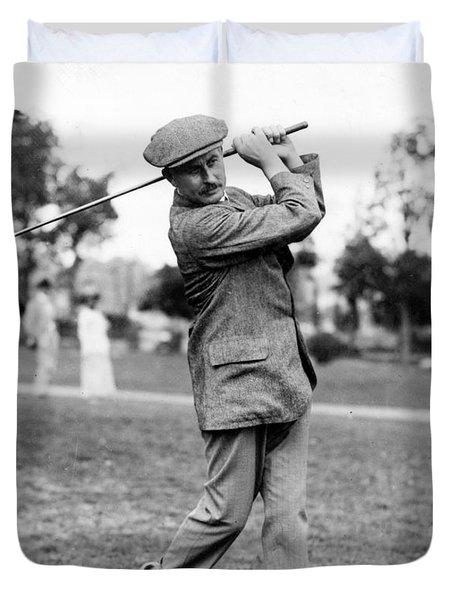 Harry Vardon - Golfer Duvet Cover by International  Images