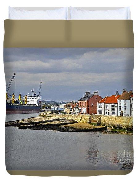 Hartlepool Harbour Evening Duvet Cover