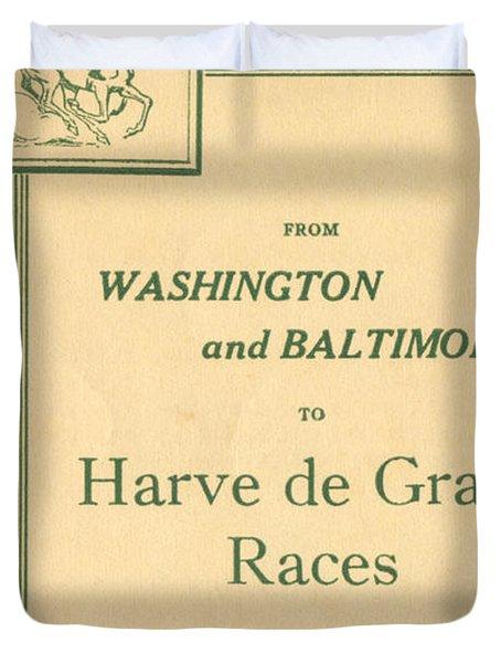Harve De Grace Races Duvet Cover