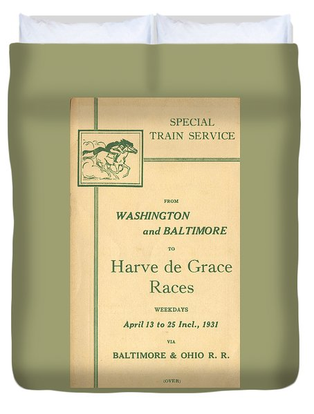 Harve De Grace Races Duvet Cover