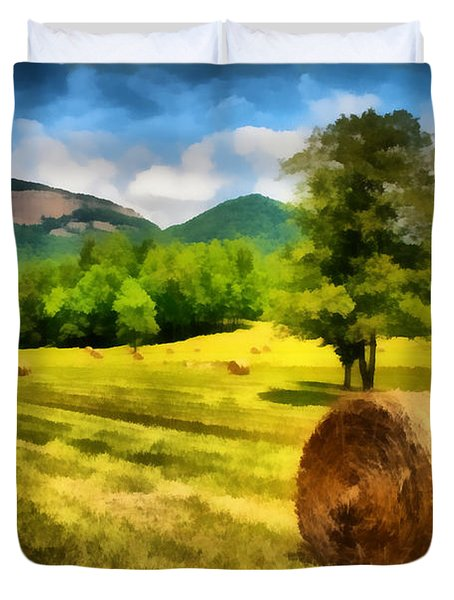 Harvest At Table Rock Duvet Cover by Lynne Jenkins