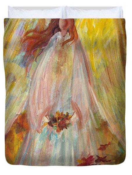 Harvest Autumn Angel Duvet Cover