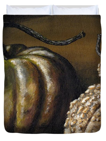 Harvest Gourds Duvet Cover by Adam Zebediah Joseph