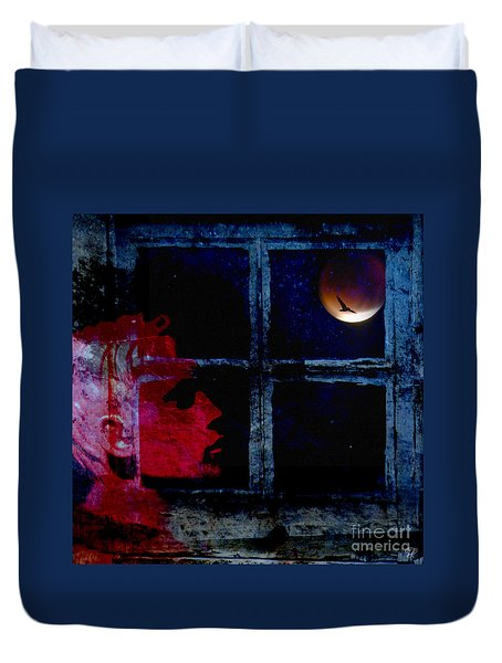 Duvet Cover featuring the photograph Harvest Moon by LemonArt Photography