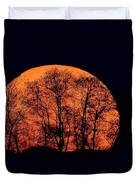 Harvest  Moon Rising Duvet Cover