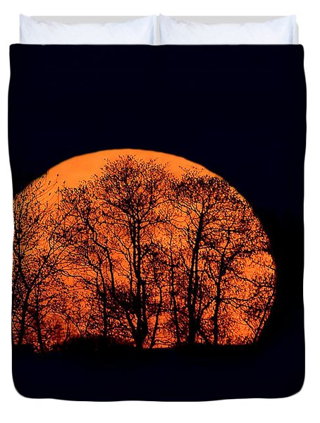 Harvest  Moon Rising Duvet Cover