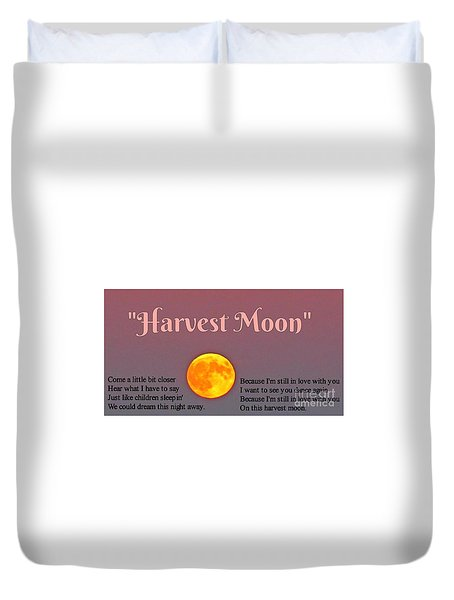 Harvest Moon Song Duvet Cover by John Malone
