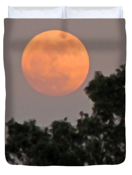 Harvest Moonrise Duvet Cover
