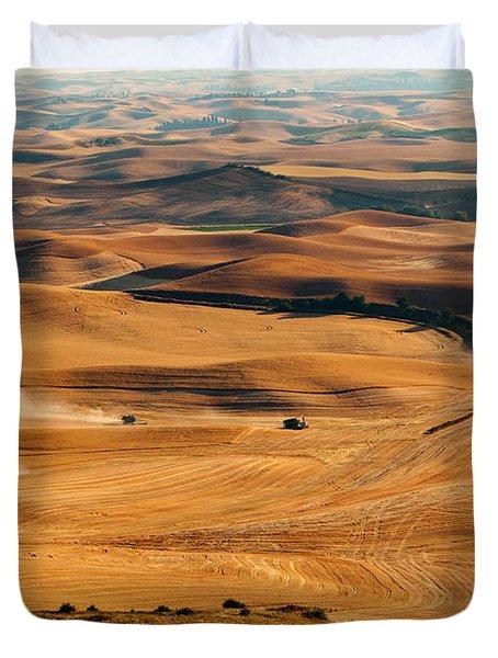 Harvest Overview Duvet Cover